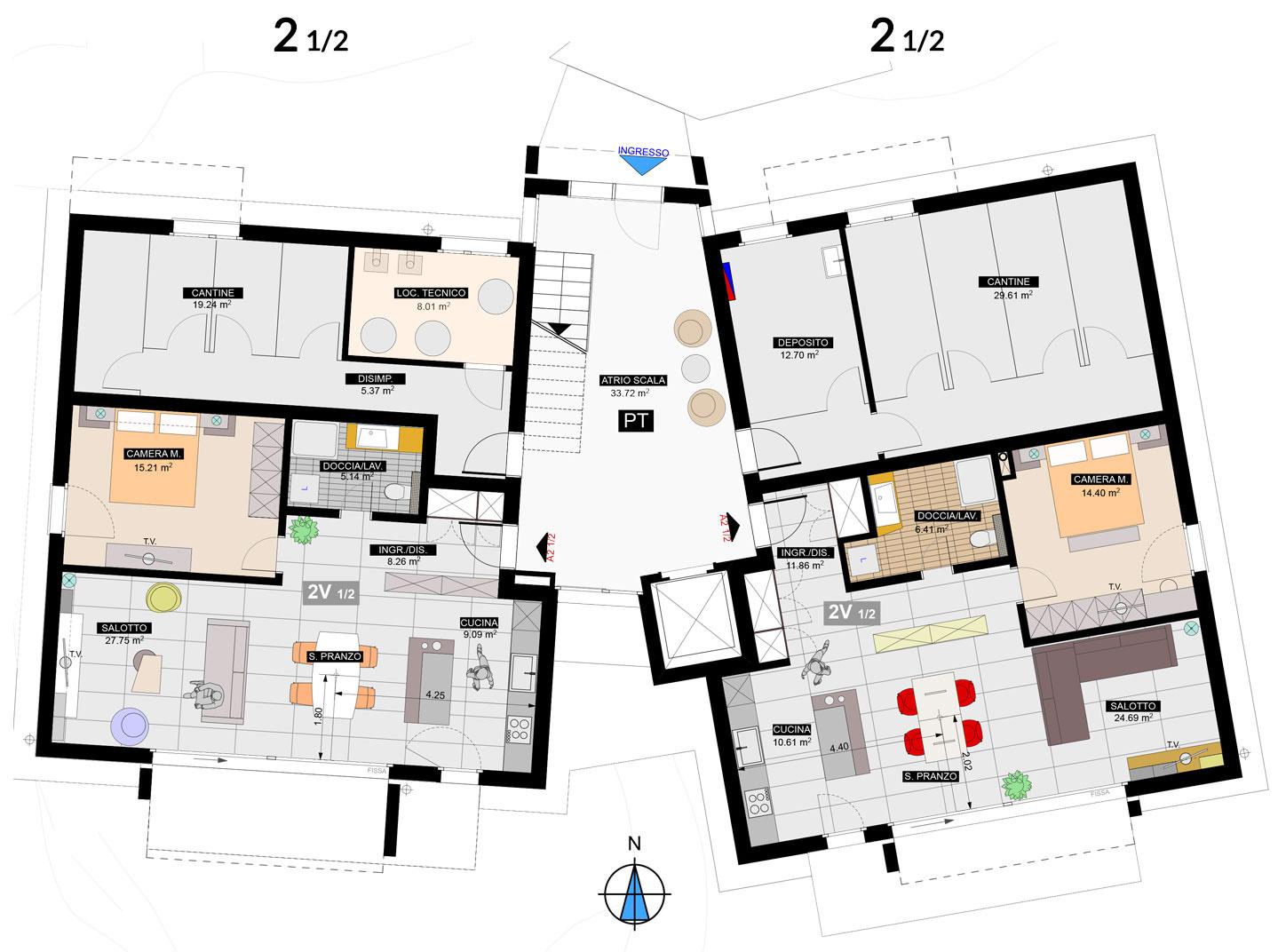 Appartamenti piano terra residenza nosicc osogna for Strumento di layout piano terra